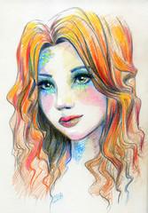 The drawn mermaid make up fashion