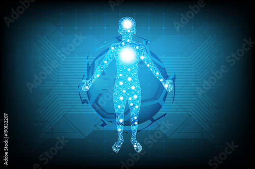 Abstract Futuristic Technology Science Concept Human Body