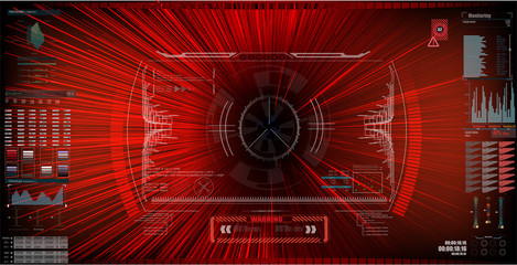 Sci-Fi Futuristic HUD Screen Interface. Virtual Reality. EPS10