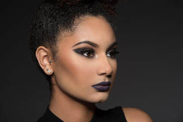 Close of Beautiful Model with a Glamour Style Cosmetics