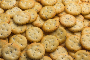 crackers with salt and spices