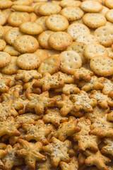 range of salty snacks
