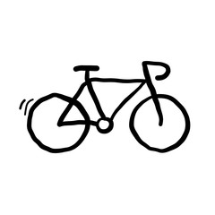 Bicyle Doodle Vector