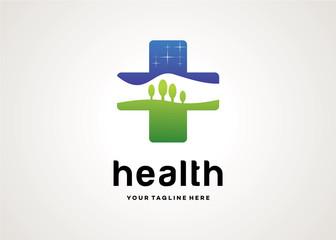 Health Logo Template Design Vector, Design Concept, Creative Symbol