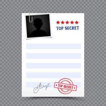 top secret paper document