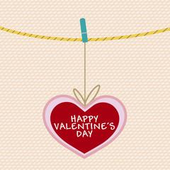 Valentines day,Vintage,Vector Illustration.