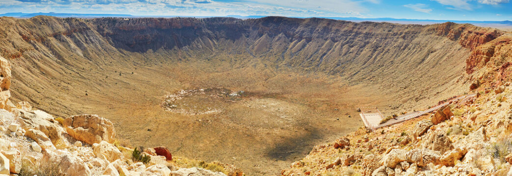 Meteor crater also known as Barringer crater in Arizona