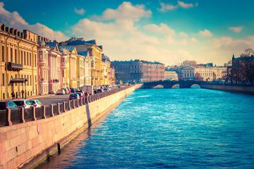 Fontanka canal in Saint Petersburg, Russia Fototapete