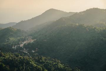 Poster Heuvel Kelasa hills or Eastern Yoma mountains in Mon state of Myanmar.