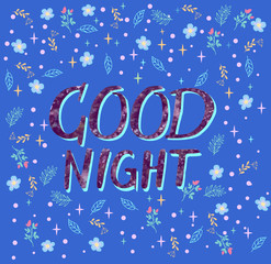 background with text Good Night.