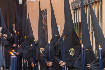 "Penitents of the brotherhood of ""Santa Marta"""