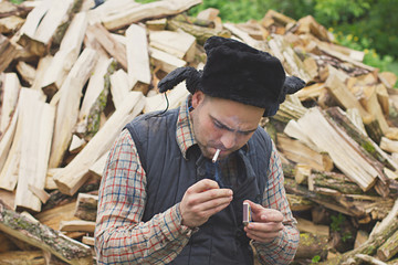 lumberjack in the hat