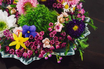 Plated Floral Bouquet