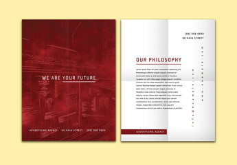 Business Flyer with Burgundy Accents 1