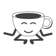 Kawaii coffee mug icon