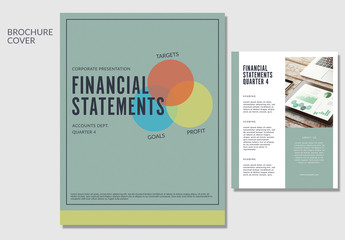 Business Brochure with Muted Green Accents 1