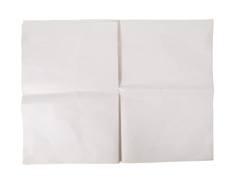 Blank newspaper isolated