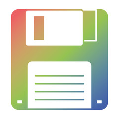floppy disk icon data backup retro vector illustration