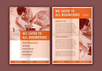 Business Brochure with Orange Accents 1