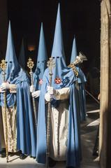 "Penitents of the brotherhood of San Esteban"""