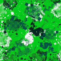 Camouflage sport pattern background seamless vector illustration. Classic camouflage sport pattern clothing style masking camo repeat print. Green, olive, white colors forest texture