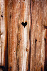 Wooden boards, old window shutter background