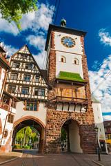 Schwabentor in Freiburg im Breisgau, Schwarzwald, Baden