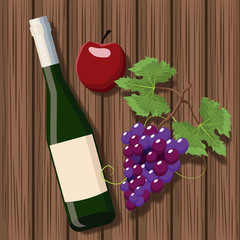 Wine bottle design icon vector illustration graphic design