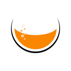 Abstract juice glass icon/logo
