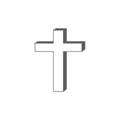 christian cross icon. Elements of religious signs icon for concept and web apps. Illustration  icon for website design and development, app development. Premium icon