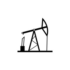 oil derrick icon. Oil an gas icon elements. Premium quality graphic design icon. Simple icon for websites, web design, mobile app, info graphics