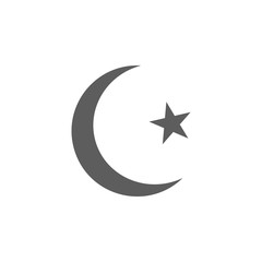 crescent moon and star icon. Elements of religious signs icon for concept and web apps. Illustration  icon for website design and development, app development. Premium icon