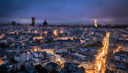 Paris city of lights at night