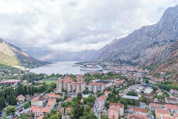 Aerial view on Bay Kotor. Montenegro.