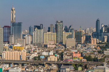 Cityscape and building of Bangkok in daytime, Bangkok is the capital of Thailand and is a popular tourist destination.