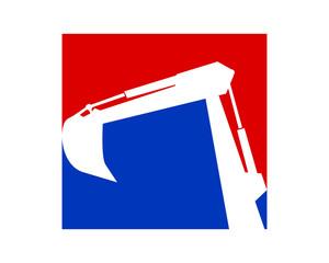white silhouette excavator excavation machinery heavy image vector icon logo silhouette