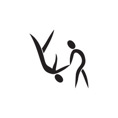 reception in judo icon. Element of figures of sportsman icon. Premium quality graphic design icon. Signs, symbols collection icon for websites, web design, mobile app