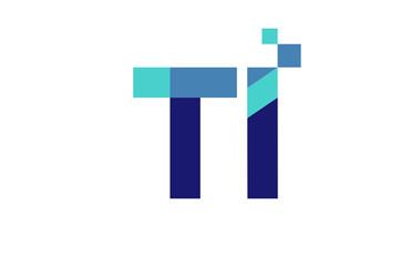 TI Digital Ribbon Letter Logo
