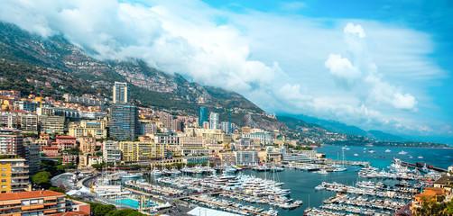 Panorama chic area of Monte-Carlo in the Principality of Monaco