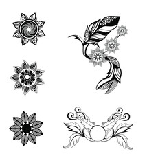 Ornaments flowers 5