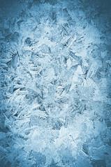 Icy frosty pattern on a window