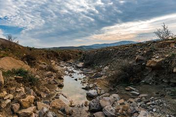 Stream of mountain river