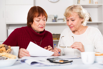 Two elderly women faced financials troubles