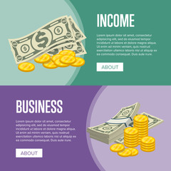 Money income and business success flyers