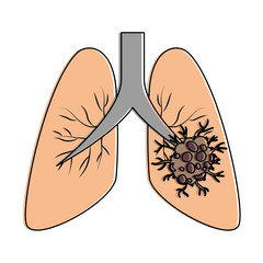 lung cancer isolated icon vector illustration design