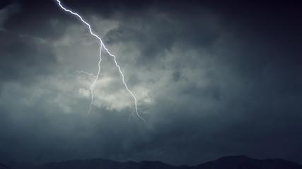 Dramatic thunder background