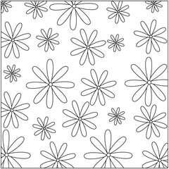 cute flower decorative pattern background vector illustration design