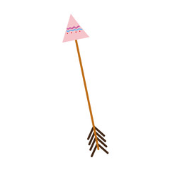 colorful arrow native object with ornamental design