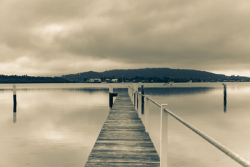 Overcast Morning by the Bay - Waterscape