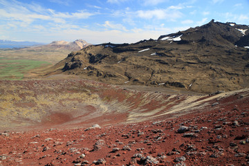 Volcanic Landscape Iceland Berserkjahraun, Snaefellsnes